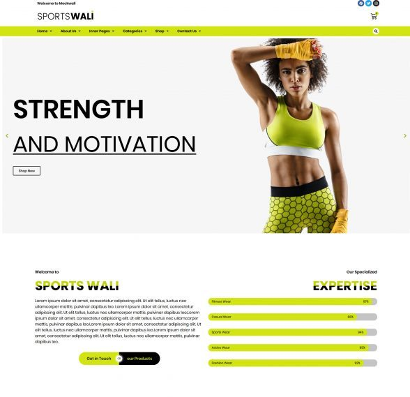 Sportswali a template for sportwear website