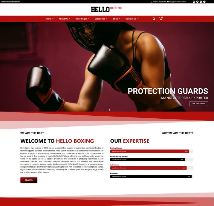 website for boxing wear